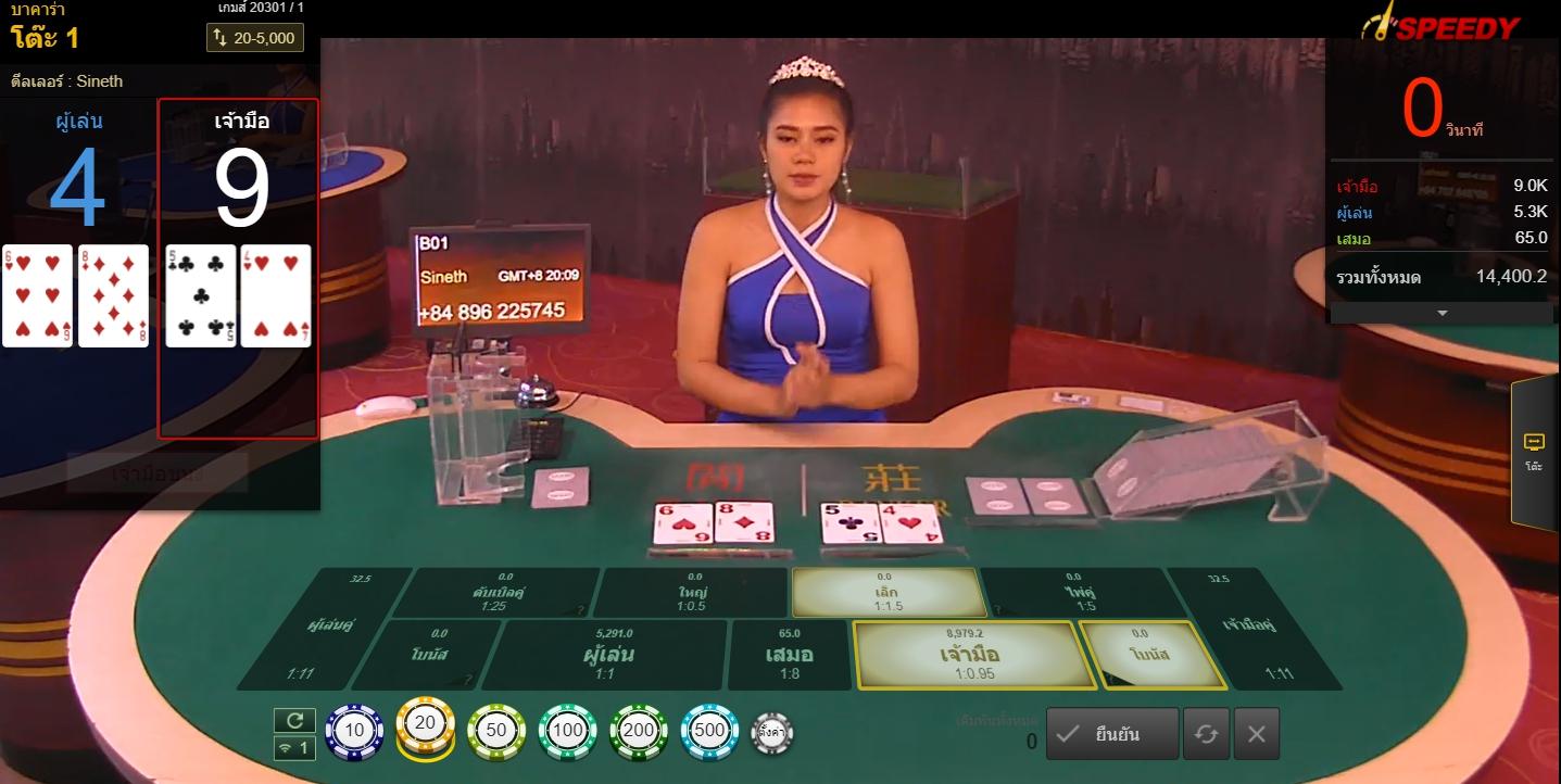 รีวิวเกม สปีด บาคาร่า เล่นง่าย ๆ ต้องเล่นที่ Venus Casino