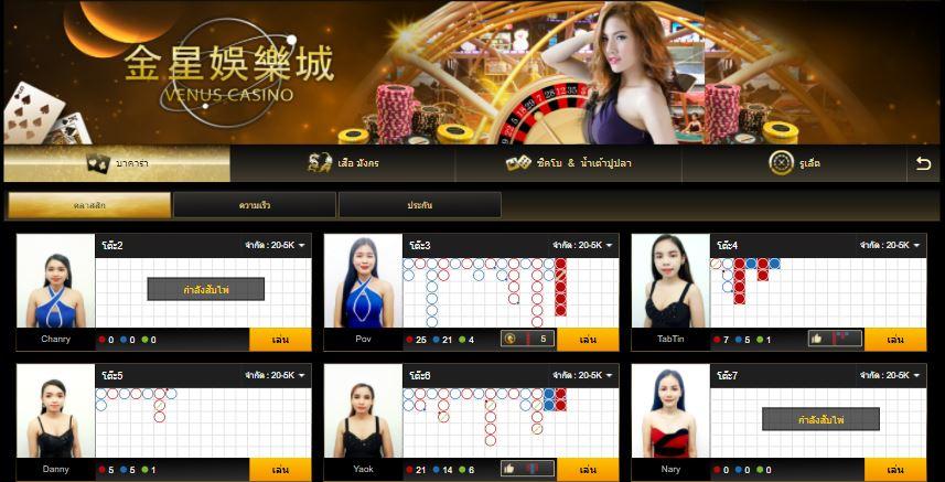 Venus Casino คาสิโนถ่ายทอดสด อันดับ 1 ของ กัมพูชา